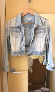 Denim jacket size 6-8