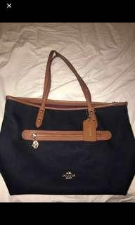 Coach Midnight Blue Sawyer Tote