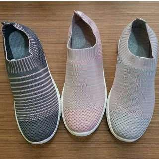 Fashion Slip On (Grey, Pink)