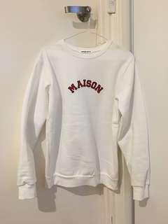 Korean Style White Sweater/Top