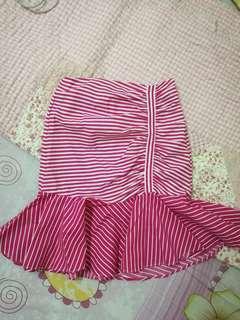 Inc pos BN Zara pink stripes skirt