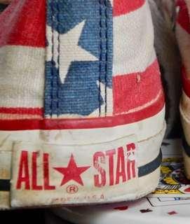 Vintage 70s 80s converse USA flag