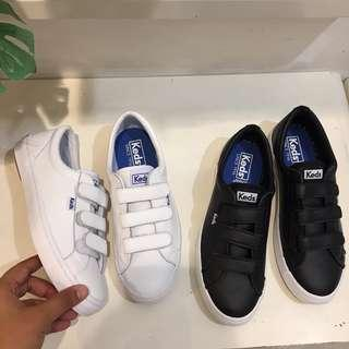 Keds White Strap Leather