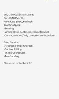 ENGLISH CLASS KOTA BHARU