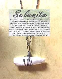 Selenite Necklace (non-tarnish)