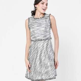 BNWT - Silver Trimmed Dress (FashionValet)