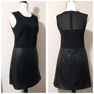 Banana Republic 2P Dress with Faux Leather Skirt
