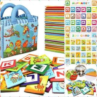 Early Learning Alphabets soft cards