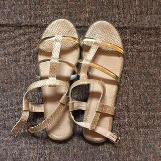 Parisian sandals/flats/strap on