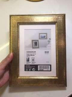Ikea Rustic Gold Frame