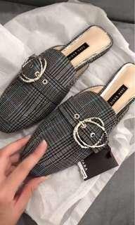 Zara basic flat shoes original