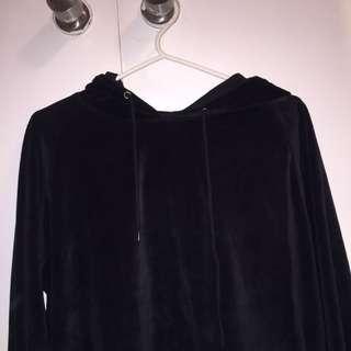 Velvet black Hoodie