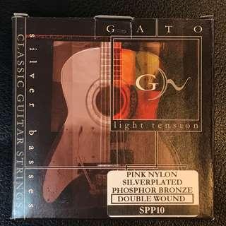 🚚 義大利GATO古典吉他弦 Classical Guitar Strings 銀/磷青銅雙纏繞 Sliver/Phosphor Bronze Double Wound 低張力 Light Tension