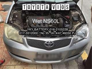 Kereta Bateri Toyota Vios , Wet NS60L