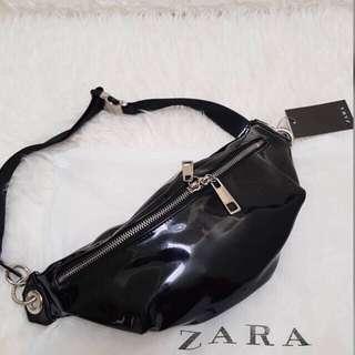 Zara glossy waist bag