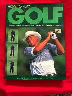 """Hard cover Book on """"How to play Golf"""""""