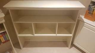 Solid white shelving unit, perfect condition!