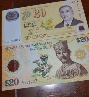CIA40 $20 set of Sg & Brunei