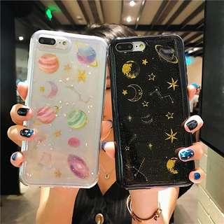 Samsung Note 8 iPhone X / Xs galaxy glitter casing