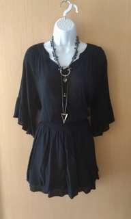 🚚 買就送價低為贈品 。一件式浪漫洋裝 free size 腰部鬆緊帶