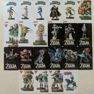 Amiibo Cards for various switch games