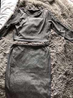Grey 2 piece