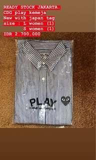 CDG play stripes shirt