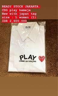 CDG play white shirt