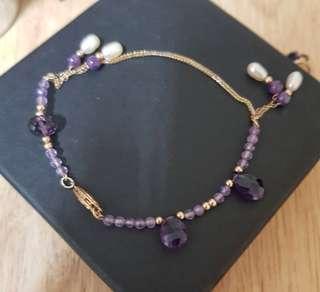 🚚 14K金紫水晶手鍊