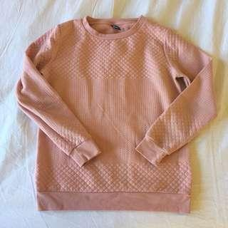 Pink quilted jumper
