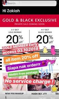 RM80 above free postage, no service charge!