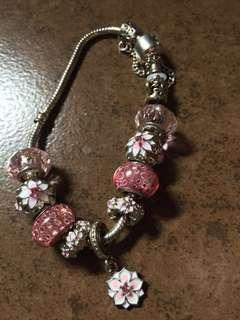 NAME YOUR PRICE Pandora inspired bracelet with charms