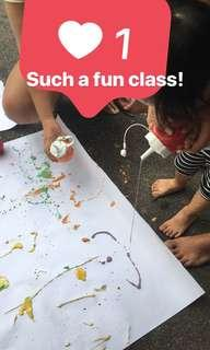Fun outdoor art for toddlers
