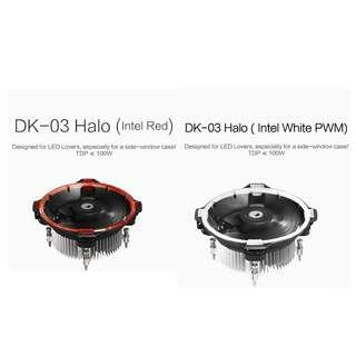 ID-Cooling DK-03 Halo Intel CPU Cooler (Red/White)