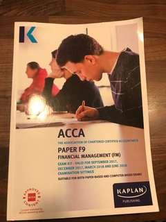 ACCA - Paper F9 Financial Management - Exam Kit