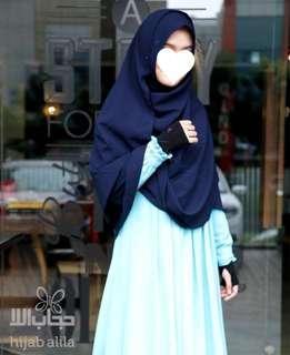 Khimar Daisy Navy by Hijab Alila