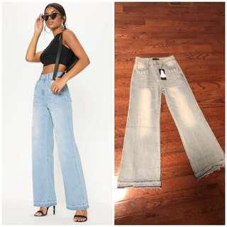 Brand new with tags high waisted wide legged jeans