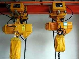 Hoist machine cable type and chain type