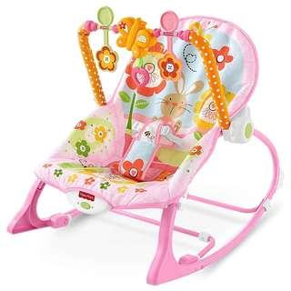 (In-Stock) Fisher-Price Infant-to-Toddler Rocker, Pink Bunny (Brand New)