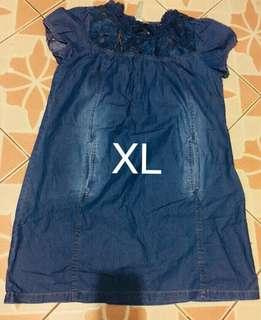 Denim dress XL