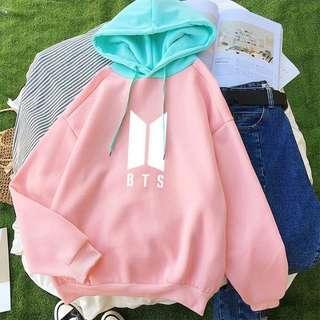 KPOP BTS Bangtan Boys Pastel Blue and Pink Hoodie