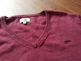 G2000 Long Sleeves Maroon Crew Neck (Size M)