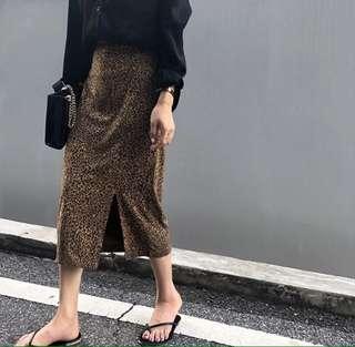 Brand New Leopard Print Skirt