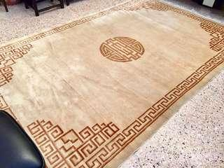 Silk and wooden carpet