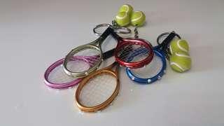 網球拍匙扣Handmade 每個