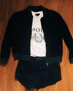 Black Jacket (no collar)