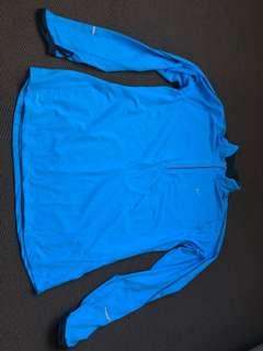 Nike long sleeve blue lightweight jumper