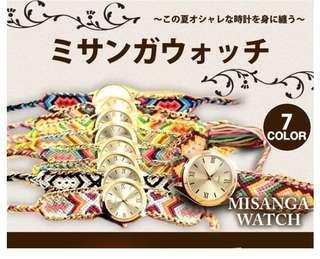 獨特手繩手錶 限時日本代購 Unique Strip Watch
