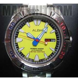ALBA Yellow Monster 200m Ji Dai Manta Ray 7S26 Divers Watch 999 pcs 2005 Limited