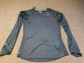Black nike long sleeve top size large